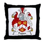 Pepper Family Crest Throw Pillow