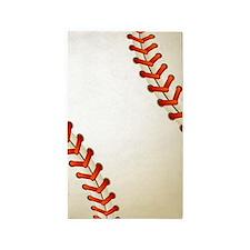 Baseball Ball Area Rug