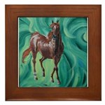 chestnut arabian horse Framed Tile