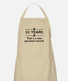 22 Years New Personal Record Apron