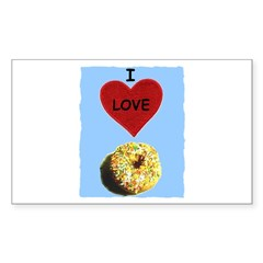 I LOVE DONUTS Rectangle Decal