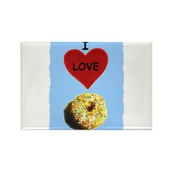 I LOVE DONUTS Rectangle Magnet (100 pack)