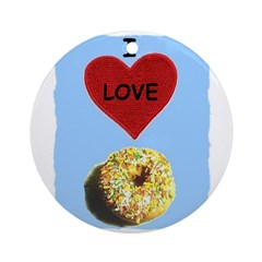I LOVE DONUTS Ornament (Round)