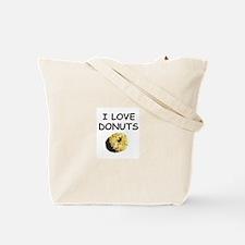 I LOVE DONUTS Tote Bag