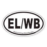 East Linlithgo/West Burden EL/WB Euro Oval Sticker