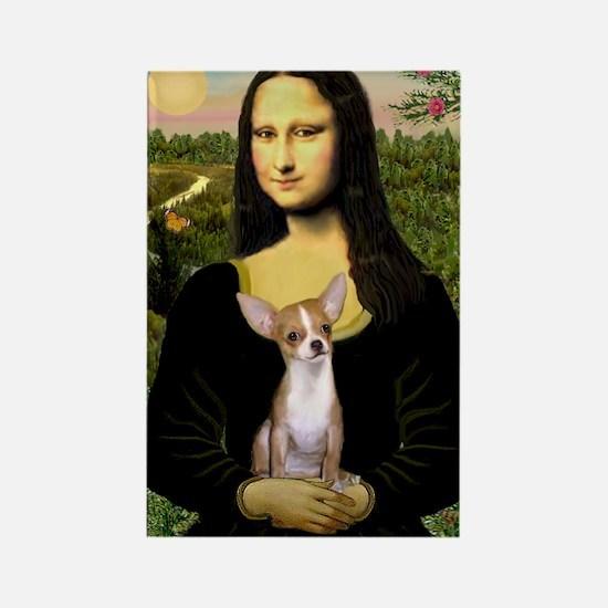 Mona Lisa's Chihuahua Rectangle Magnet
