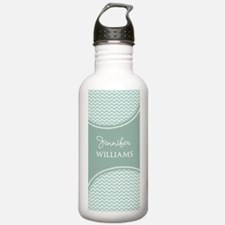 Mint Chevron Personali Water Bottle