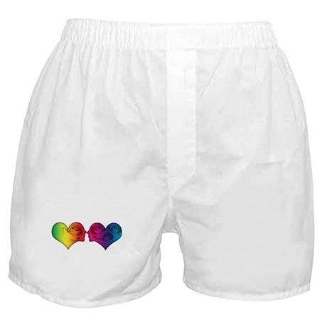 Rainbow love hearts Boxer Shorts