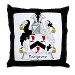 Pedigrew Family Crest Throw Pillow