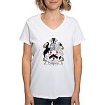 Pedigrew Family Crest  Women's V-Neck T-Shirt