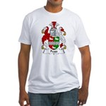 Pease Family Crest Fitted T-Shirt