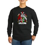 Pease Family Crest Long Sleeve Dark T-Shirt