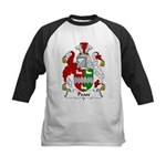 Pease Family Crest Kids Baseball Jersey