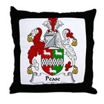 Pease Family Crest Throw Pillow