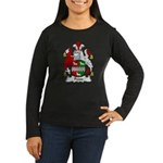 Pease Family Crest Women's Long Sleeve Dark T-Shir