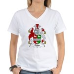 Pease Family Crest Women's V-Neck T-Shirt