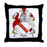 Peart Family Crest Throw Pillow
