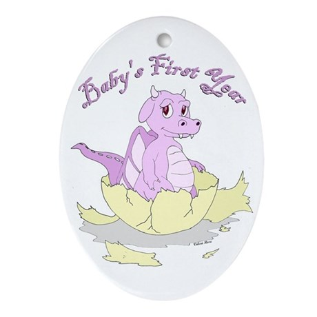 Baby's First Year Oval Ornament