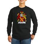 Pearse Family Crest Long Sleeve Dark T-Shirt
