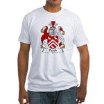 Peach Family Crest Fitted T-Shirt