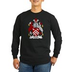 Peach Family Crest Long Sleeve Dark T-Shirt