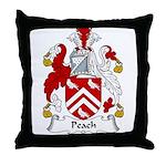 Peach Family Crest Throw Pillow