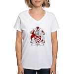 Peach Family Crest Women's V-Neck T-Shirt
