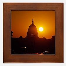 Capitol Hill Sunset Framed Tile
