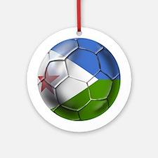 Djibouti Football Ornament (Round)
