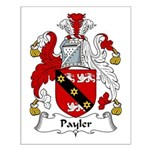 Payler Family Crest Small Poster