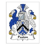 Paxton Family Crest Small Poster