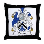 Paxton Family Crest Throw Pillow