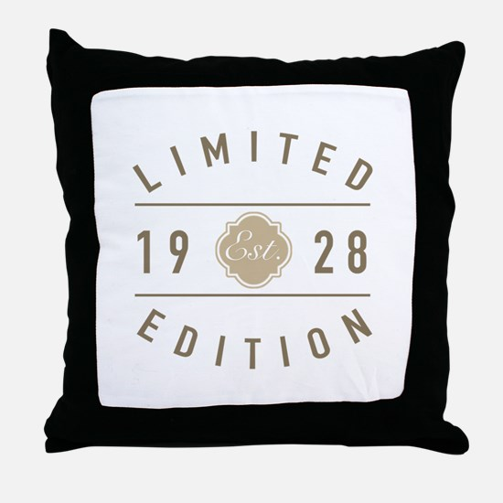 1928 Limited Edition Throw Pillow