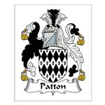 Patton Family Crest Small Poster