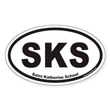 SKS Oval Decal