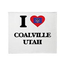 I love Coalville Utah Throw Blanket