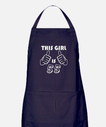 This Girl Is 55 Apron (dark)