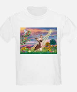 Cloud Angel/Chinese Crested T-Shirt