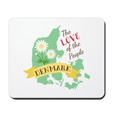 Denmark Love People Mousepad
