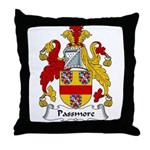 Passmore Family Crest Throw Pillow