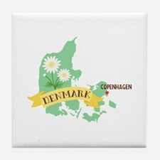 Denmark Copenhagen Capital Tile Coaster