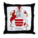Pashley Family Crest Throw Pillow