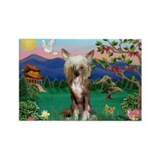 Pagoda/Chinese Crested Rectangle Magnet