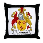 Partington Family Crest Throw Pillow