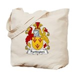 Partington Family Crest Tote Bag