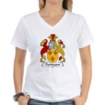 Partington Family Crest Women's V-Neck T-Shirt