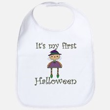 Girl's First Halloween Bib