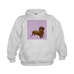 The Artsy Dog Dachshund Serie Kids Hoodie