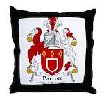 Parrott Family Crest Throw Pillow