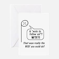 "Angry ""la"" Greeting Card"